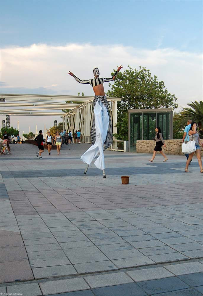Dancing on stilts