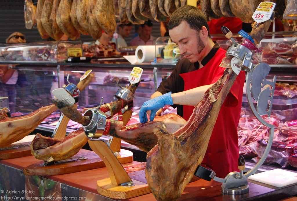Cutting jamon