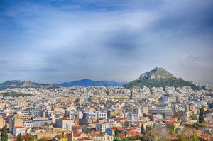 Dealul Lycabettus, vazut de la Acropole