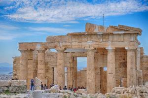 Propylaea, iesire din Acropole