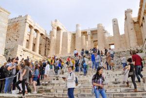 Propylaea, intrarea in Acropole